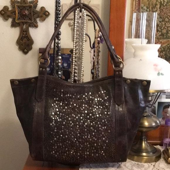 808ddf25c01 Frye Bags | Leather Studded Deborah Should Tote Bag | Poshmark
